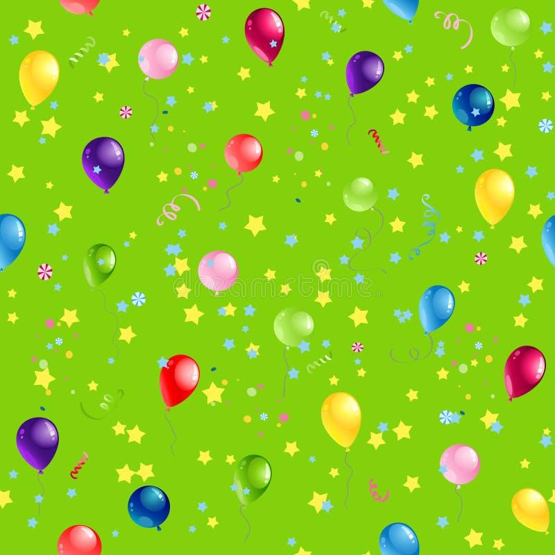 Zielony wszystkiego najlepszego z okazji urodzin wzór ilustracja wektor