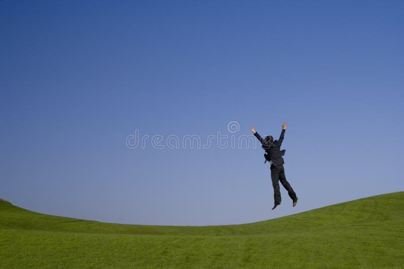 zielony wysoki jumping obraz stock