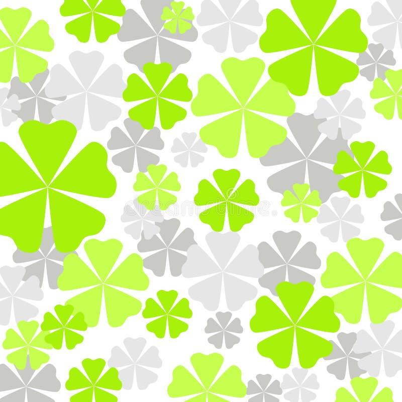 zielony wzór kwiat royalty ilustracja