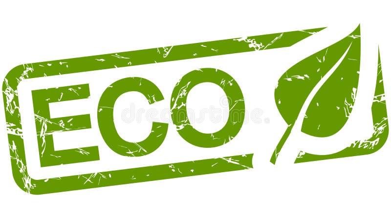 zielony znaczek z tekstem ECO royalty ilustracja