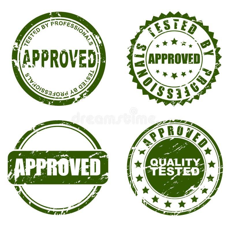 Zielony znaczek - zatwierdzony ilustracji