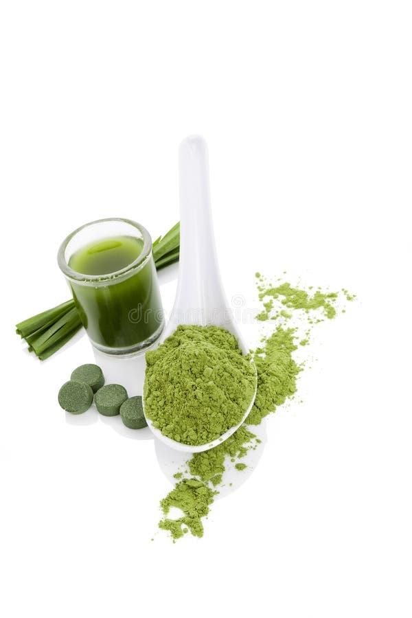 Zielonych alg superfood zdjęcie royalty free