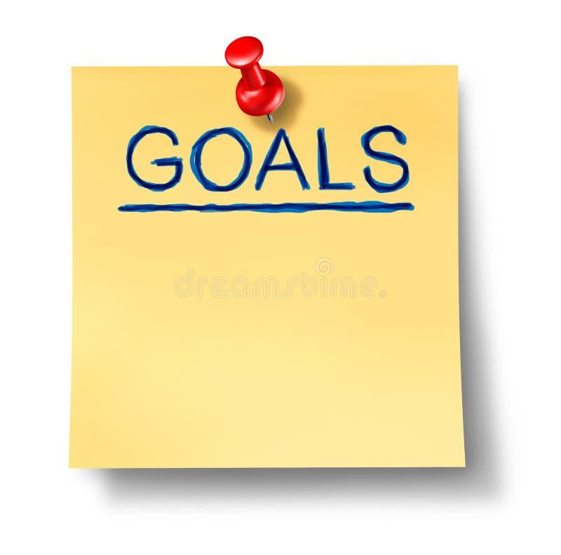 Zielstrategienplanungs-Büroanmerkung Getrennt Stockfoto