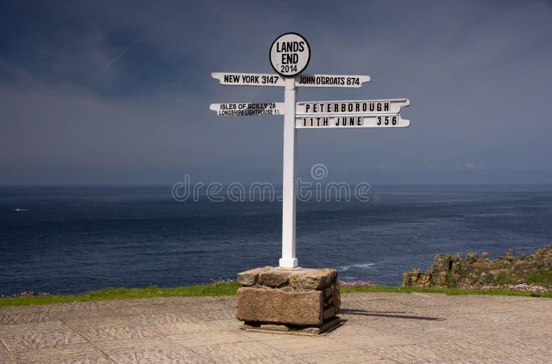 Ziemi końcówka, Cornwall, Wielki Brytania fotografia stock