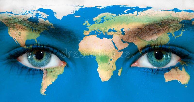 Ziemi oczy obrazy stock