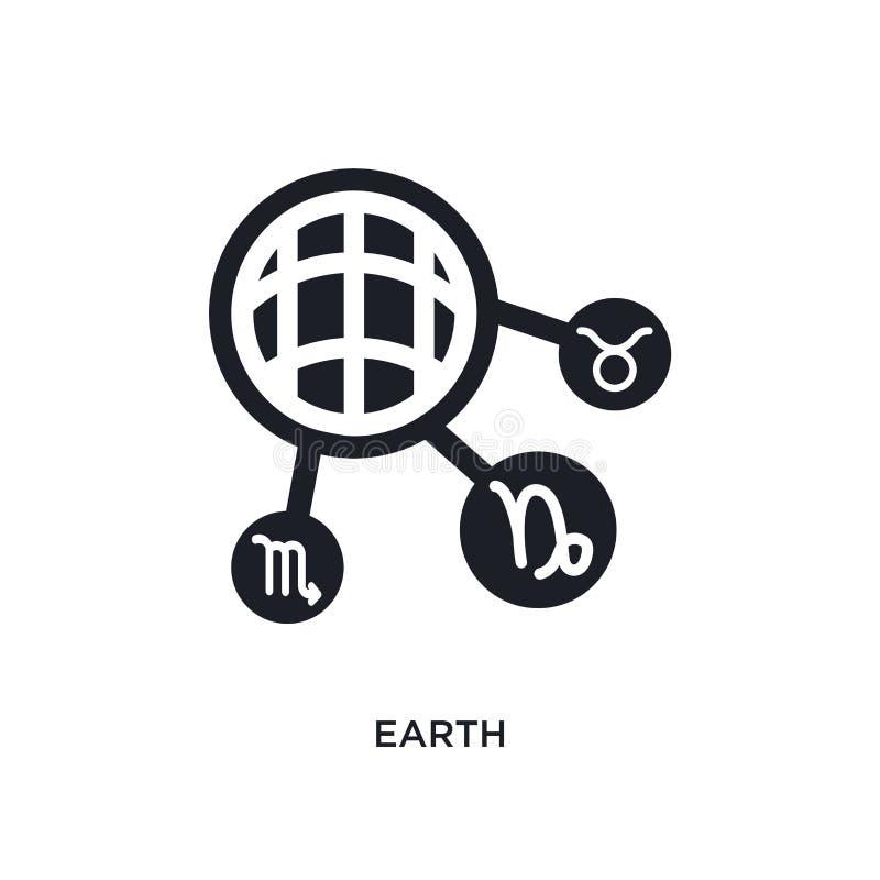 ziemi odosobniona ikona prosta element ilustracja od zodiaka pojęcia ikon ziemski editable logo znaka symbolu projekt na bielu ilustracja wektor