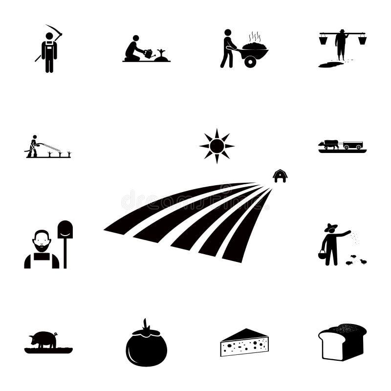 Ziemi uprawnej ikona Szczegółowy set rolne ikony Premii ilości graficznego projekta ikona Jeden inkasowe ikony dla stron internet royalty ilustracja
