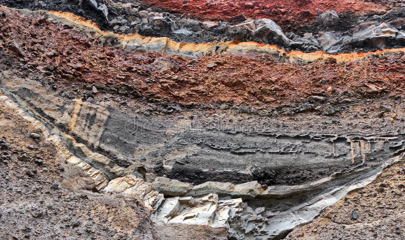 Ziemi warstwy zdjęcie stock