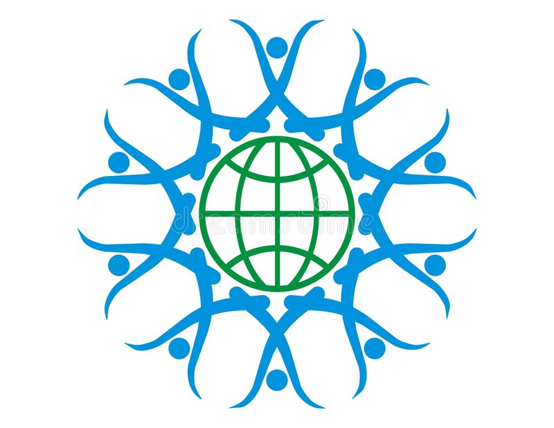 ziemia łańcuszkowy ludzki logo ilustracji