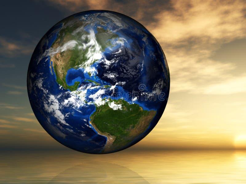 Ziemia, środowisko, Globalny nagrzanie, pokój, nadzieja zdjęcia royalty free