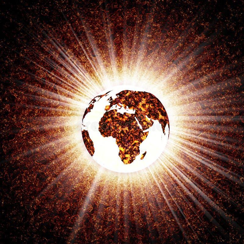 ziemia świecić ilustracji