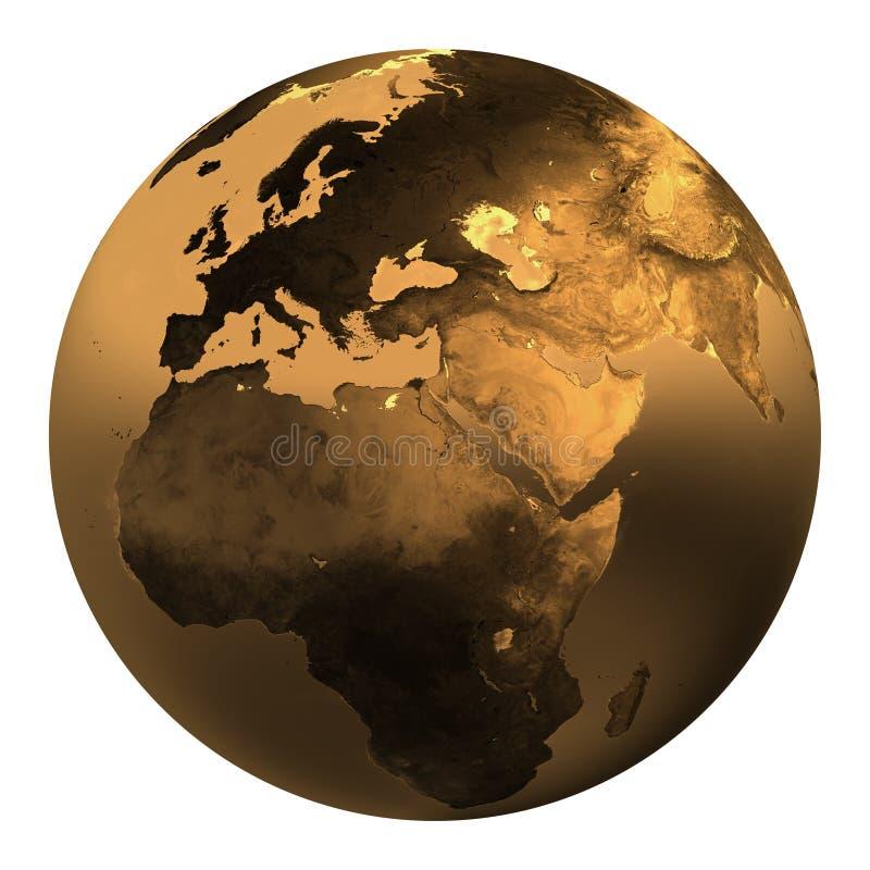 ziemia 2 złoto ilustracja wektor