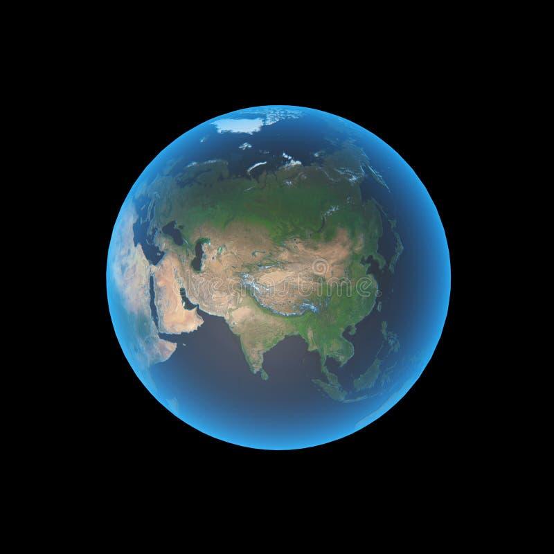 ziemia azji royalty ilustracja