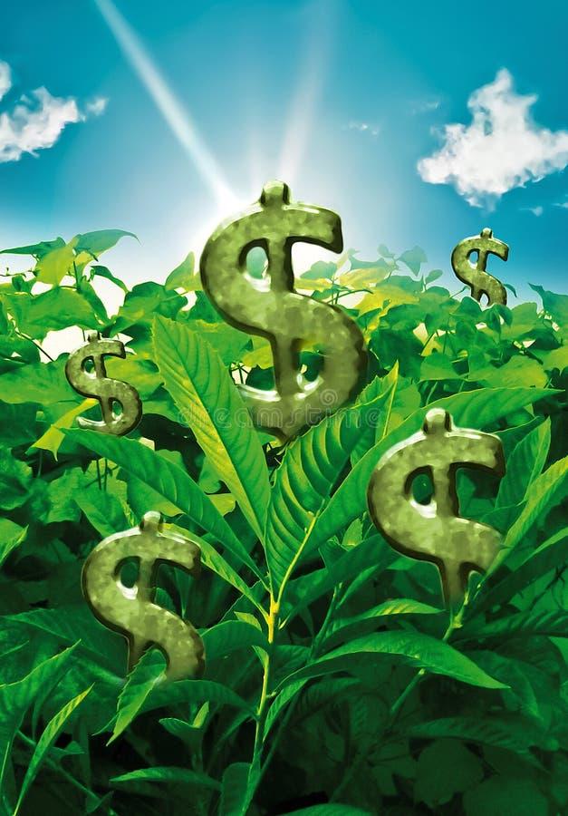 Ziemia dokąd pieniądze R royalty ilustracja
