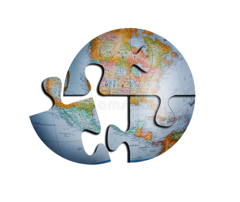 ziemia globe puzzle wektora ilustracja wektor