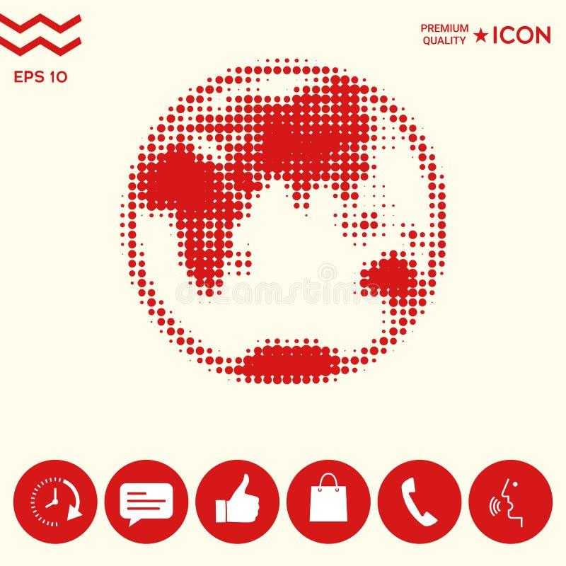 Ziemia - halftone logo ilustracji