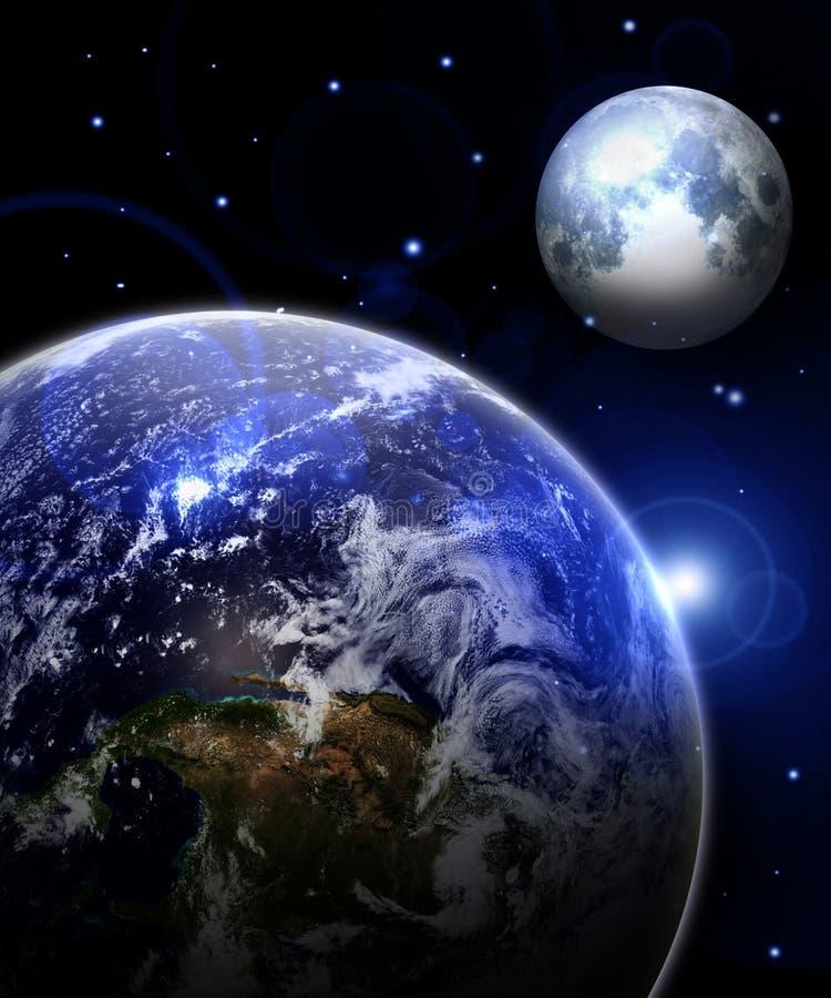 Ziemia i księżyc ilustracji