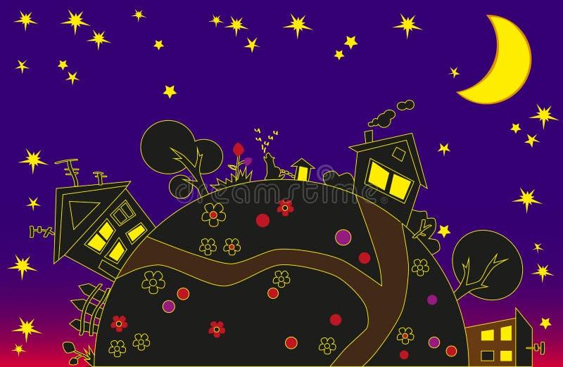 Ziemia i noc ilustracji