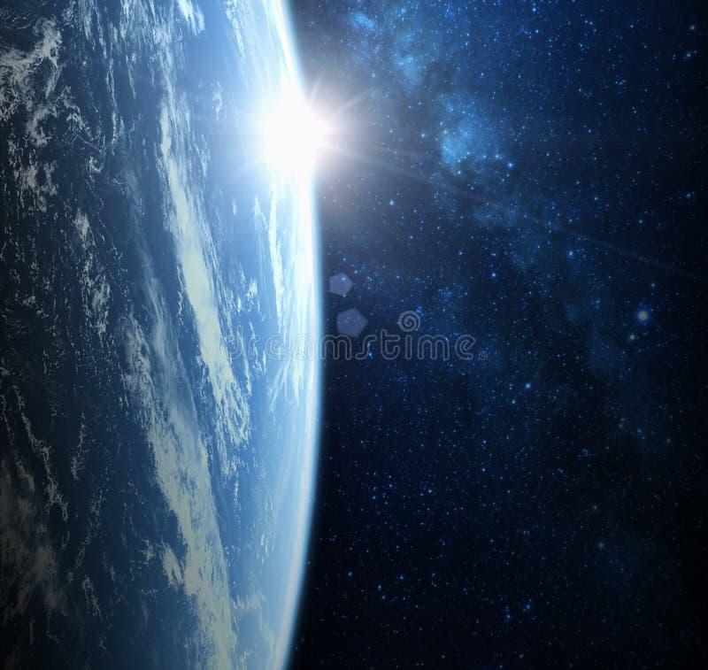 Ziemia od astronautycznego planeta krajobrazu zdjęcia stock