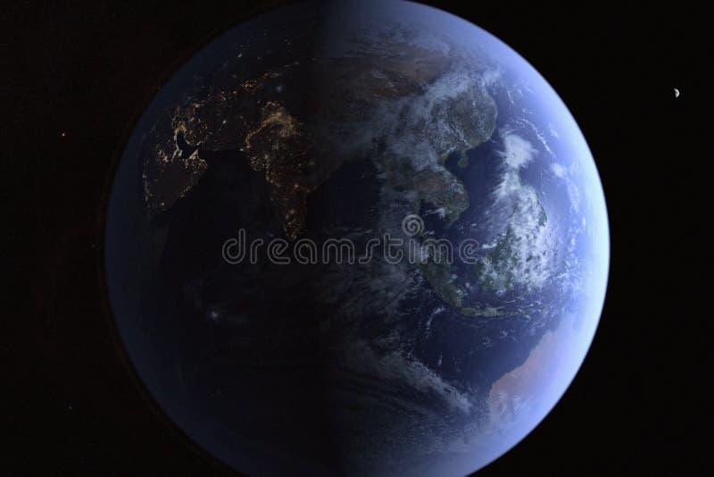 Ziemia od Wysokiej orbity ilustracja wektor