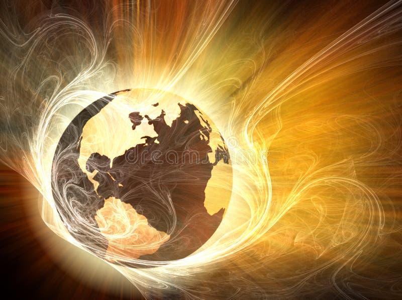 ziemia ogień ilustracji