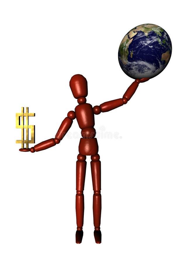 ziemia pieniądze ilustracja wektor