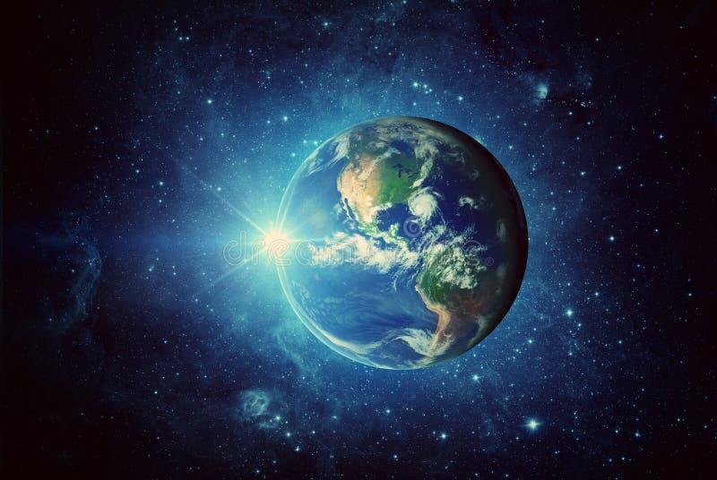 Ziemia, słońce, galaxy i przestrzeń, Elementy ten wizerunek meblujący NASA obrazy royalty free