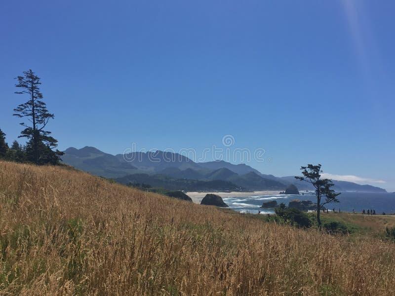 Ziemia spotyka ocean zdjęcie stock