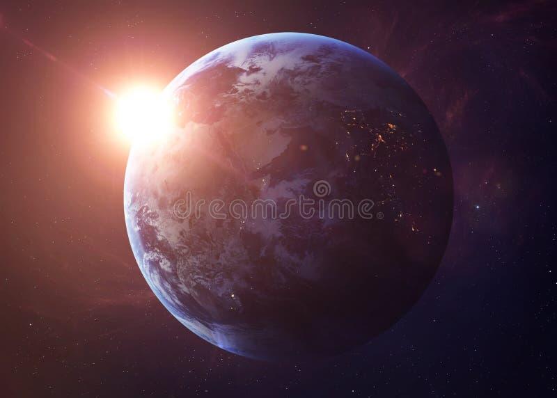 Ziemia strzał od przestrzeni pokazuje wszystko je piękno obrazy royalty free