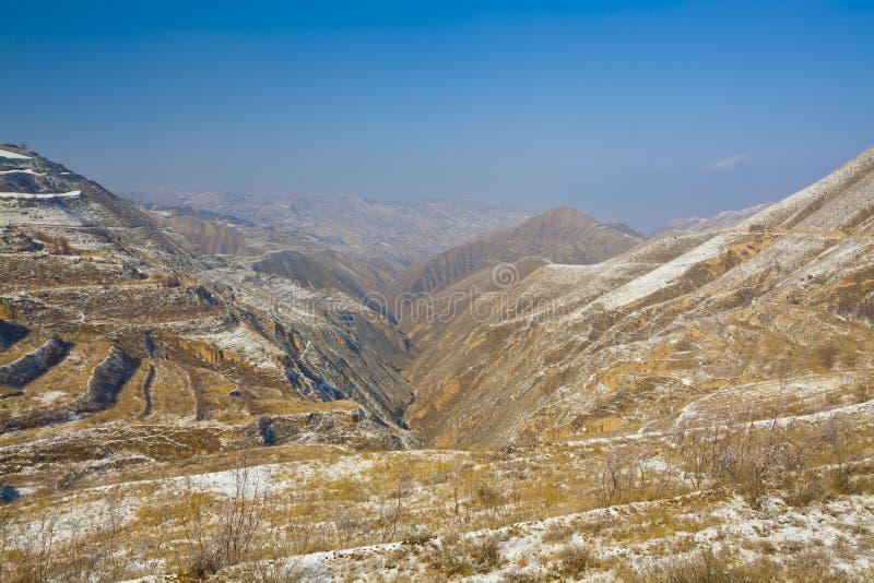 Ziemia uprawna w zimie Chiny obraz stock