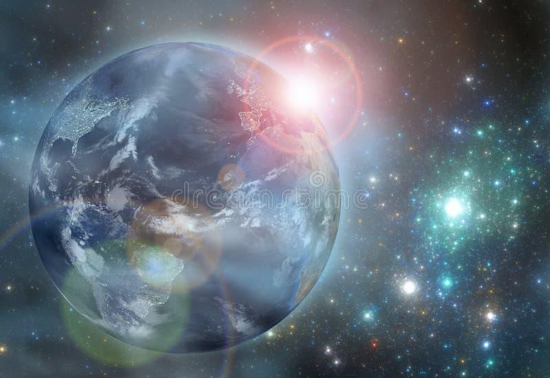 Ziemia w przestrzeni ilustracji