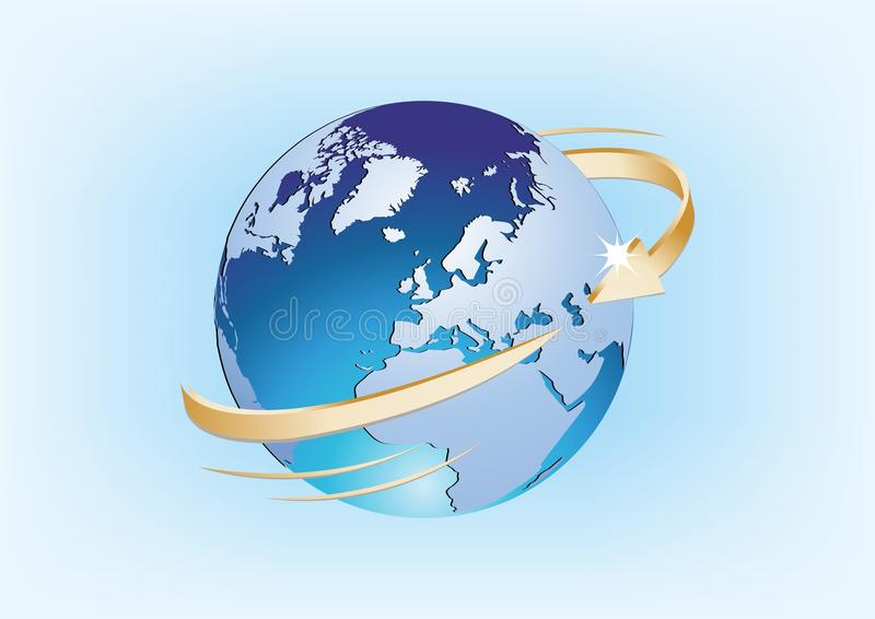 Ziemia w przestrzeni royalty ilustracja