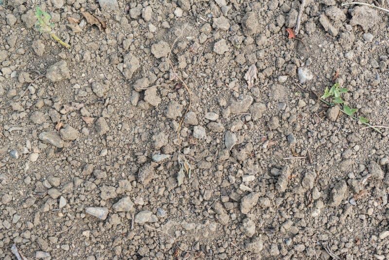 Ziemia z kamieniami zdjęcie stock