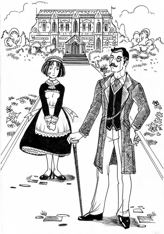 ziemianin royalty ilustracja
