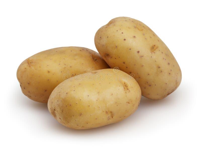 ziemniaki białe tło zdjęcia stock