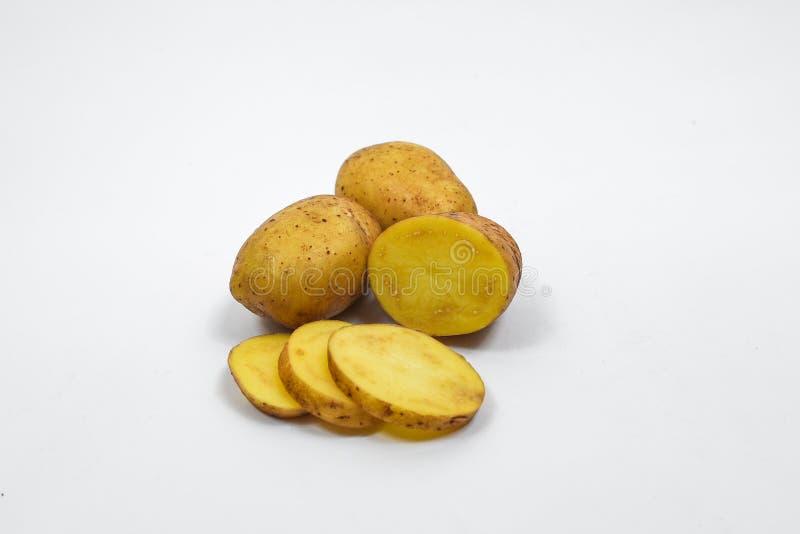 ziemniaki odosobnione białe tło zdjęcie royalty free