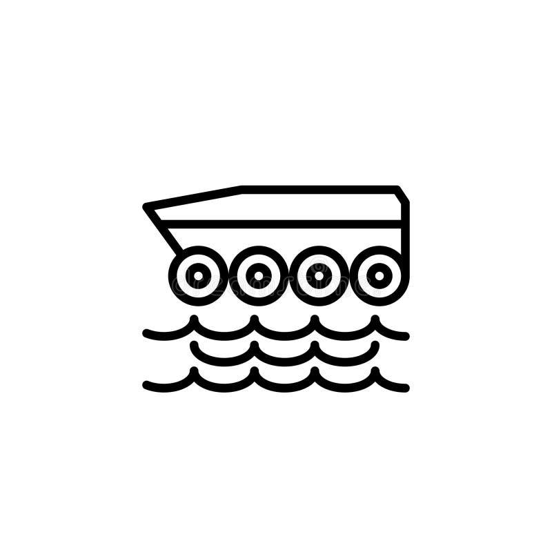 Ziemnowodny samochodowy ikona zapas transportów pojazdy odizolowywał wektor ilustracji
