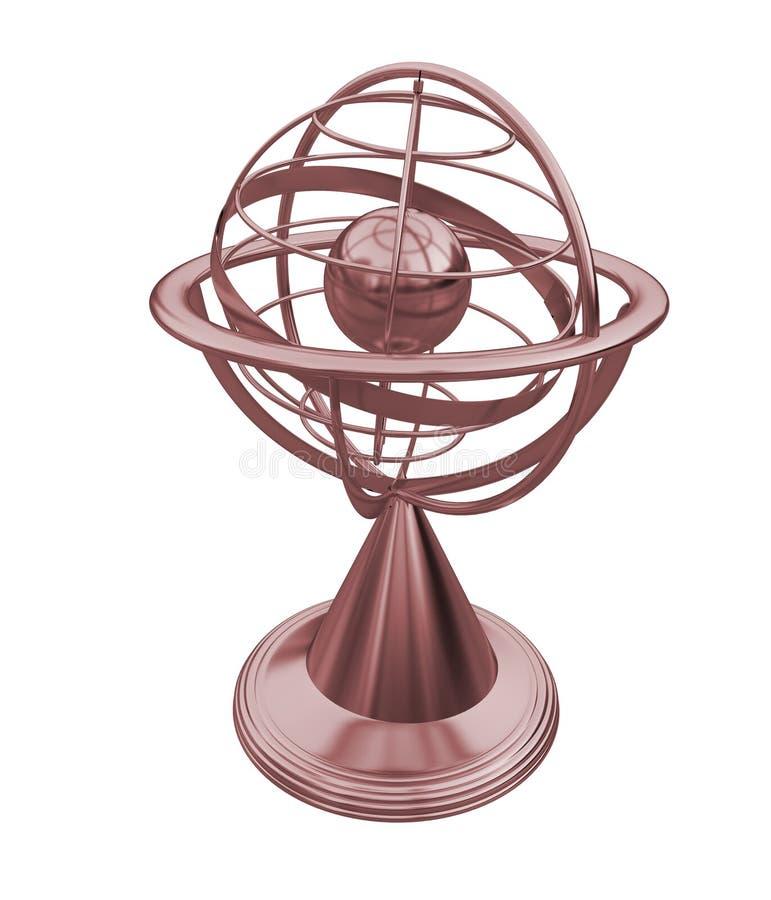 Ziemny kula ziemska model ilustracja wektor