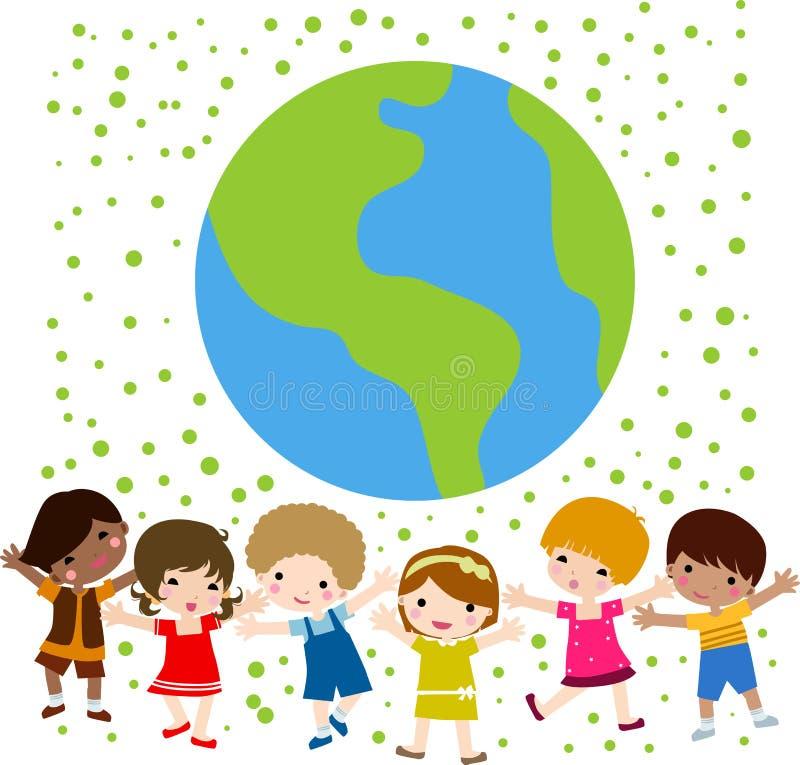 ziemscy szczęśliwi dzieciaki royalty ilustracja