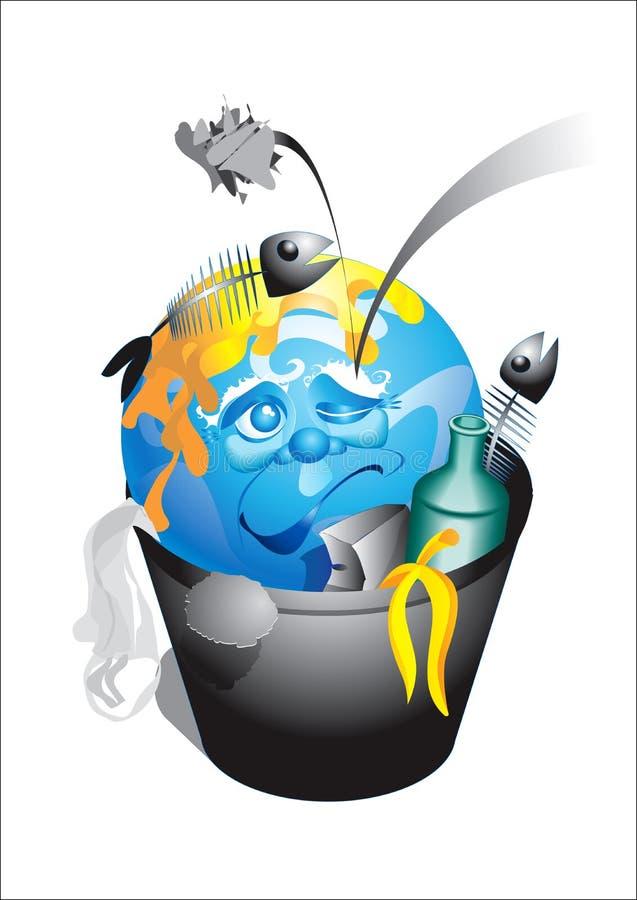 ziemska śmieciarska planeta ilustracja wektor