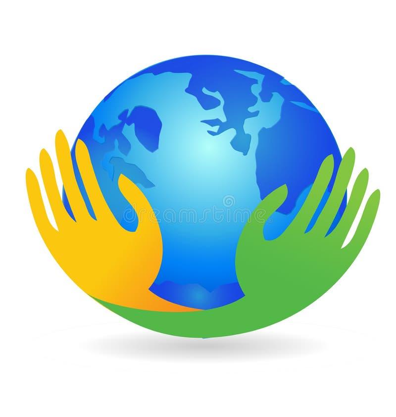 Ziemska światowego pokoju jedności miłości wektoru ikona ilustracji