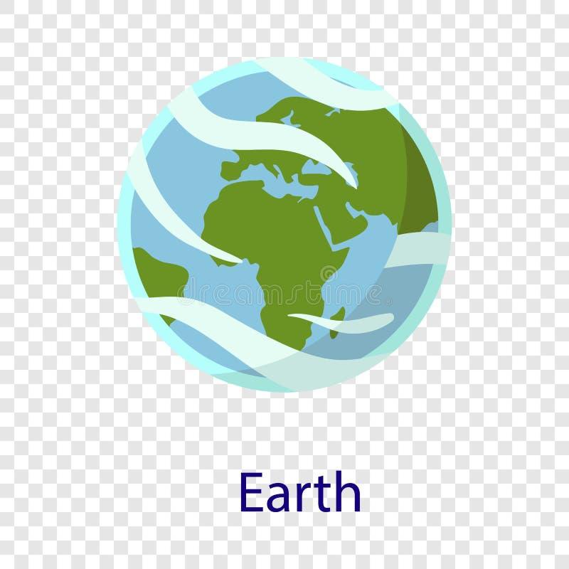 Ziemska astronautyczna planety ikona, mieszkanie styl ilustracji