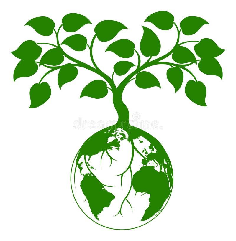 Ziemska drzewna grafika royalty ilustracja