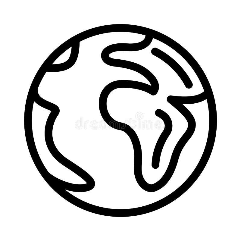 Ziemska ikona, konturu styl royalty ilustracja