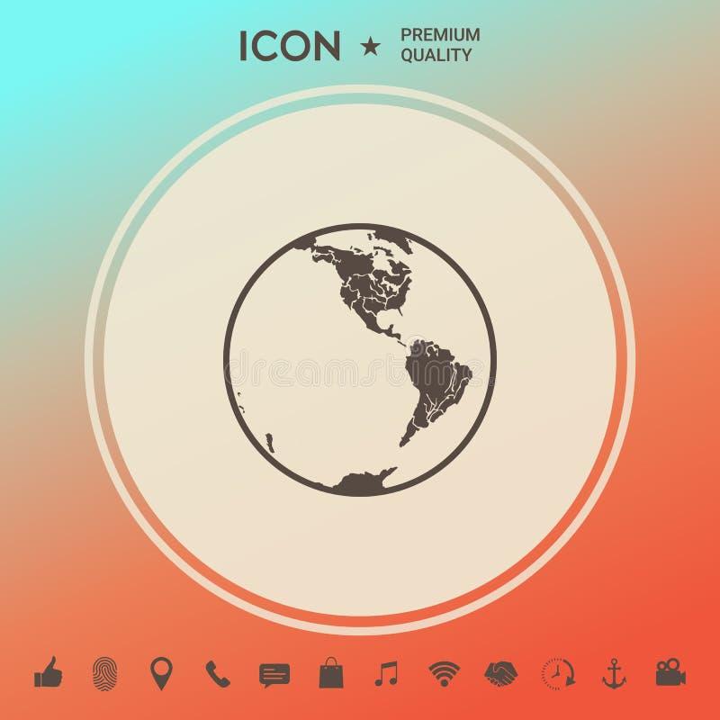 ziemska ikona logo royalty ilustracja