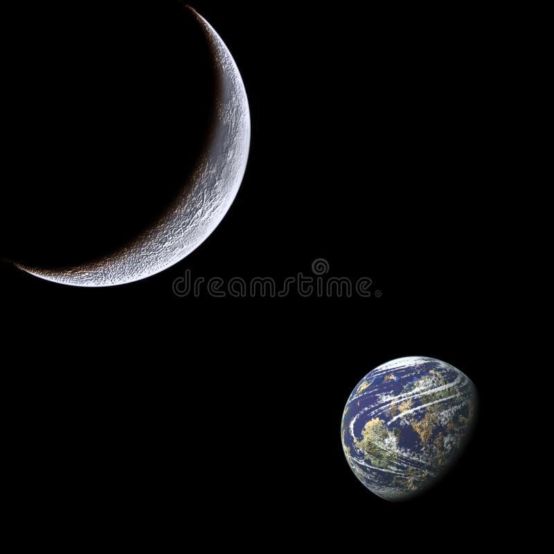 ziemska księżyc royalty ilustracja