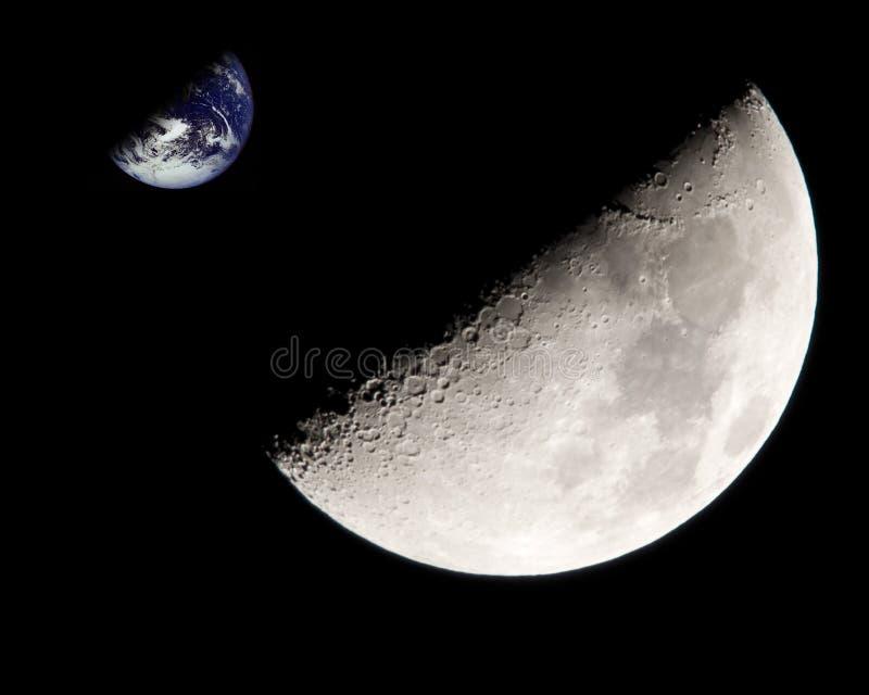 ziemska księżyc fotografia royalty free