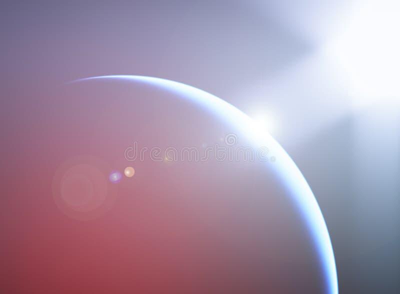 Ziemska kula ziemska z dramatycznym lekkim przecieku tłem ilustracji