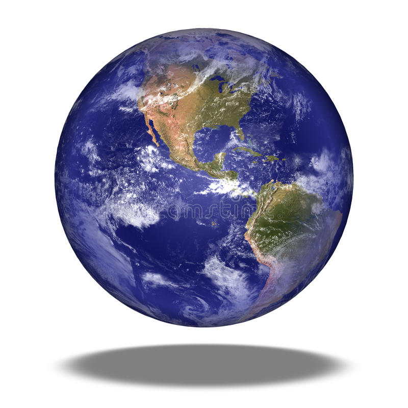 Ziemska kula ziemska: Północna Ameryka widok. ilustracji