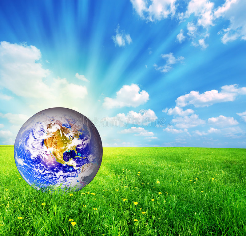 ziemska kuli ziemskiej trawy zieleń obrazy royalty free